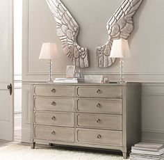 Pewter Angel Wings | Accents | Restoration Hardware Baby & Child  I LOVE this!!!!