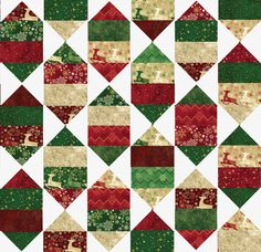 Lets Quilt Something: Holiday Nights - Free Pattern - Layer Cake Posted by Krystal Jakelwicz -Here is a fun pattern that you can whip up just in time for the holiday's. With some large flying geese you can form a beautiful scrappy hexagon star all over. This pattern would look great with just about any fabric! This would make a lovely quilt in Traditional styled fabric as well.