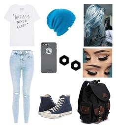"""""""Casual with suga 😌"""" by bts4ever02 ❤ liked on Polyvore featuring New Look, Converse, Coal, OtterBox and Marc by Marc Jacobs"""