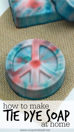 How to Make Soap at Home - you have to see how easy it is to make this TIE Dye Soap!