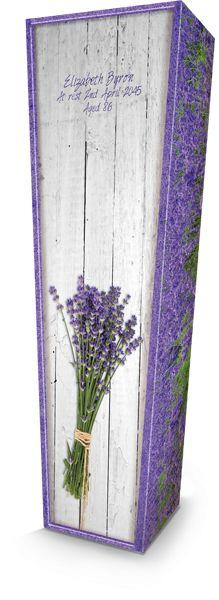 Lavender Flower Coffin Box