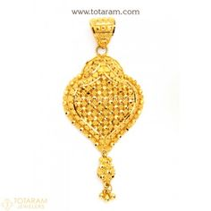 22K Gold Pendant  - 235-GP2916 - Buy this Latest Indian Gold Jewelry Design in 8.300 Grams for a low price of  $513.99
