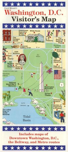 free printable washington dc map showing US Capitol and Museums
