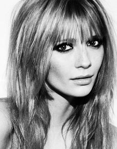 Mischa Barton, with layered hair and fringe