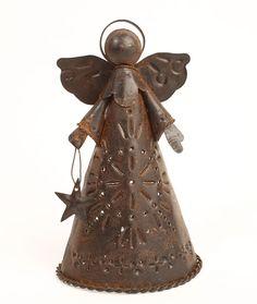 Rusty Tin Angel Tree Topper