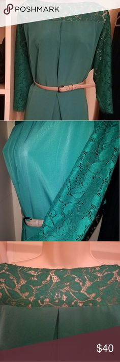 Jessica Simpson plus size dress Teal boat neck dress 22W Plus Size Jessica Simpson Dresses