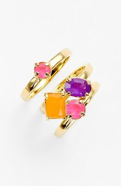 kate spade new york stone rings (Set of 3) available at #Nordstrom