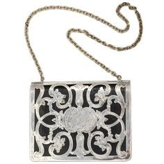 Small Leather and German Silver Evening Purse, 1910