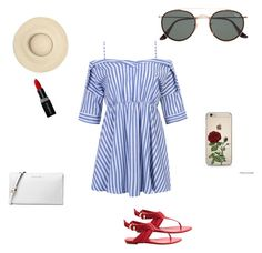 """""""Summer Vacation"""" by rolleri on Polyvore featuring WithChic, Ray-Ban, Louis Vuitton, Michael Kors and Smashbox"""