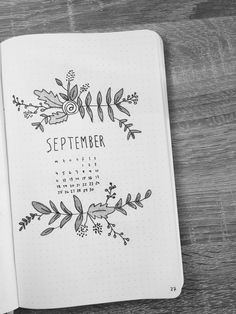 Bullet Journal, September start page