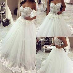 A Line Wedding Dress Sweetheart Neckline 0014 on Storenvy