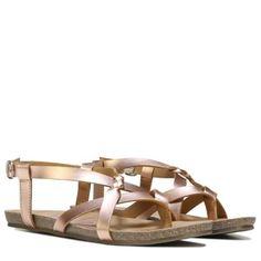 4833f879c7b0 Blowfish Women s Granola Footbed Sandal In Rose Gold Granola