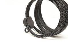 Steampunk zipper jewelry, handmade friendship bracelets, urban boyfriend gift, industrial style.. $29.00, via Etsy.