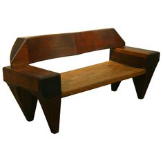 Exotic wood bench by Jose Zanine Caldas