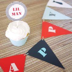 Little Man Party Theme - DIY Printable Files. $9.99