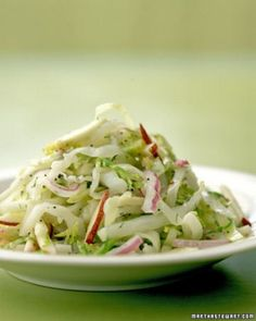 See the Green-Cabbage and Red-Apple Slaw with Brussels Sprouts in our Thanksgiving Salads gallery