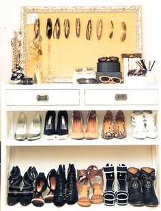 organized shoes and accessories