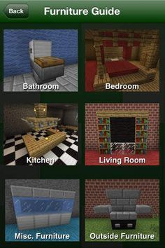minecraft furniture guide outside - Google Search