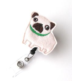 Hey, I found this really awesome Etsy listing at https://www.etsy.com/listing/159083400/fat-pug-name-badge-holder-cute-badge