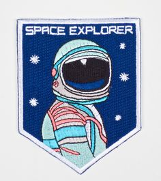 Now that's a patch to wear! Space Explorer Patch | WOCOLATE http://wocolate.co.nz/space-explorer-patch.html
