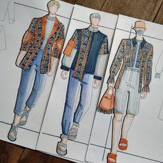 Fashion Design Portfolio, Fashion Design Drawings, Fashion Sketches, Man Illustration, Fashion Illustration Dresses, Fashion Sketchbook, Men Design, Drawing Clothes, Designs To Draw