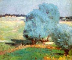 Sălciile de la Chiajna (Chiajna Willows)  (c.1905) - Stefan Luchian Amazing Paintings, Manet, Art Database, Mondrian, Landscape Art, Impressionism, Art History, Fine Art, Illustration