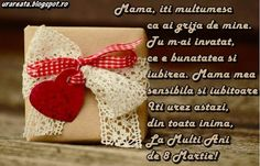 felicitare 8 martie pentru mama3 8 Martie, 8th Of March, Christmas Stockings, Happy Birthday, Kari, Holiday Decor, Words, Frases, Gelatin Bubbles
