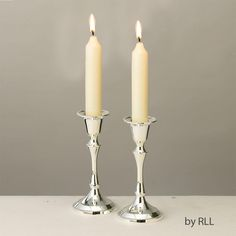 """Candlestick Set, Silver Plated, 5"""""""
