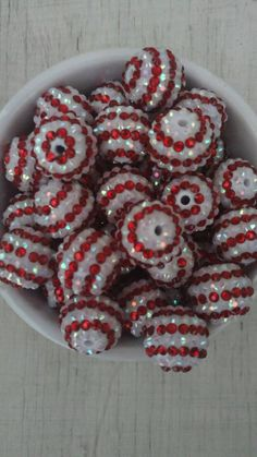 Check out this item in my Etsy shop https://www.etsy.com/listing/500136083/20mm-red-white-striped-candy-cane-theme