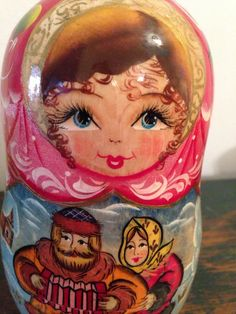 Vintage Nesting Doll Matpeha with Ornaments Mail Ideas, Matryoshka Doll, Wooden Dolls, Happy Mail, Kitsch, Nativity, Folk Art, 3 D, Collections