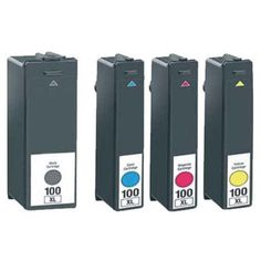 2016 Whole Sale Brand New Mit Coloer 4 Ink Cartridge For Lexmark 100xl P205 P705…