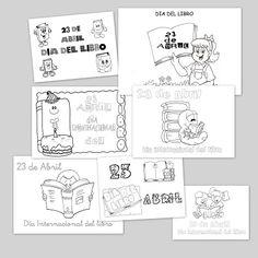 Recursos para el aula: Colorear carteles para el Día Internacional del Libro