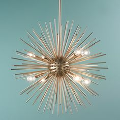 Galaxy Star Modern Chandelier It's electric. Create drama and form with these artistic Galaxy star Modern Pendant. Let this pendant lead the way in your room of mod, eclectic, or Jonathan Adler inspired decor. Available in gold leaf of silver leaf.