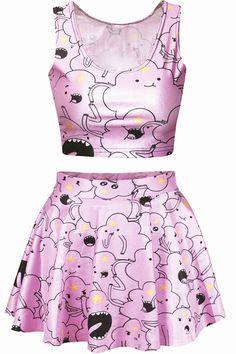 Lumpy Space Princess Short Skirts Womens Dress by leggingscube