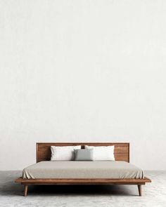 Grayson's modern facade is attributed to the striking combination of glossy white and grainy wood, round curvatures and sharp industrial lines.Pair with any bedroom set! Modern Bedroom Furniture, Contemporary Bedroom, Bed Furniture, Furniture Design, Modern Bedroom Sets, Modern Beds, Bed Frame Design, Bed Design, Home Bedroom