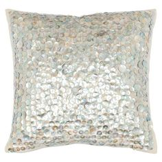 mother of pearl pillow - perfect for modern coastal decor