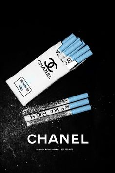 A Most Expensive Cigarette: Worlds most expensive cigarette - Chanel (I don't smoke, never did, and didn't know these existed) Jess Conte, Bad Girl Aesthetic, Blue Aesthetic, Alcohol Aesthetic, Rauch Fotografie, Cigarette Aesthetic, Smoking Kills, Chanel Boutique, Most Expensive