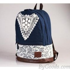 Fashion College Style Triangle Lace Backpack |Fashion Backpacks - Fashion Bags|ByGoods.com - Neeed ♥ - Shop is all you Neeed !