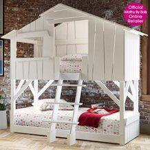 KIDS TREEHOUSE BEDROOM BUNKBED in White. Unique Childrens Bunk Bed | Unusual Bed for Children | Designer Luxury Kids Bed | Mathy By Bols Bed @cuckoolandcom #dreamkidsbedroom