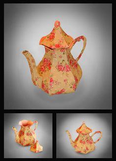 3D SVG Tea Pot DIGITAL download by MySVGHUT on Etsy