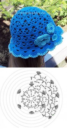 Crochet patterns free hat kids crafts New Ideas Crochet Summer Hats, Crochet Kids Hats, Knitted Hats, Summer Knitting, Crochet Clothes, Crochet Shell Stitch, Crochet Motif, Crochet Chart, Filet Crochet