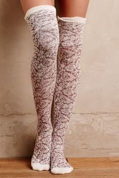 Far Away From Close Ruffled Over-The-Knee Socks #anthrofave