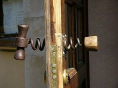 Awesome! Corkscrew on one side of the door, cork on the other