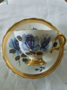 Rosina Tea Cup and Saucer by Rocky1975 on Etsy, $20.00