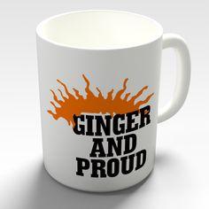 Ginger and Proud Coffee Mug on Etsy, £9.00