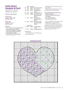 Just CrossStitch is the first magazine devoted exclusively to counted cross stitch and the only cross-stitch title written for the intermediate to advanced-leve Celtic Cross Stitch, Just Cross Stitch, Celtic Heart, Cross Stitching, Blackwork, Cross Stitch Patterns, Crossstitch, Cards, February