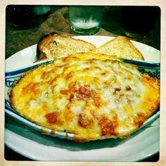 BAKED SPAGHETTI  Fazoli's Copycat Recipe   1 (16 oz.) package spaghetti  1 pound ground beef  1 medium onion, chopped  1 ( 24 oz.) jar m...