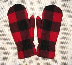 Wool Mittens. Custom Fit. Pendleton wool fleece by GiftStash