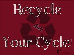 Recycle Your Cycle! Choose reusable menstrual products like cloth pads or menstrual cups for a healthier, more eco-friendly period. www.gladrags.com