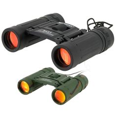 Compact 8 x 21 Powerful Folding Roof Prism Rubber Armored Binoculars - Green